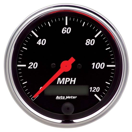 Auto Meter 1480 Designer Black Air-Core Speedometer Gauge, 3-3/8 Inch