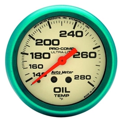 Auto Meter 4541 Ultra-Nite Mechanical Oil Temperature Gauge, 2-5/8 In.