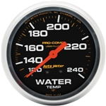 Auto Meter 5432 Pro-Comp Liquid Filled Water Temp Gauge 120-240 Degree