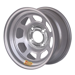 Aero 55-004240 55 Series 15x10 Wheel, 4-lug, 4 on 4-1/4 BP, 4 Inch BS