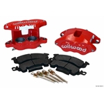 Wilwood 140-11291-R D52 Front Caliper Kit, 2 Inch Piston/1.04 Rotor
