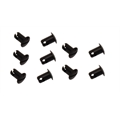 Fastener Specialties Black Aluminum 1/4 Inch Turn Panel Fasteners, 10 Pack