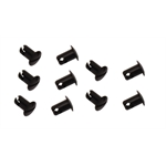 Black Aluminum 1/4 Turn Panel Fasteners, .500 Inch Grip, Pack/10