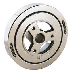 Small Block Chevy 400 Harmonic Balancer, 8 Inch, Stainless Steel