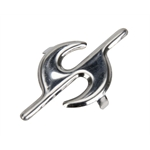 Pedal Car Parts, AMF/BMC Car Chrome S Hood Ornament