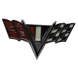 Classic Headquarters W-419 V-Flag Fender Emblem, Camaro/Nova/Chevelle