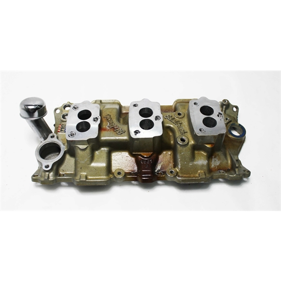 Edelbrock 5418 Small Block Chevy 3x2 3-Bolt