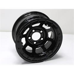 Garage Sale - Bassett 58D53L 15X8 D-Hole 5 on 5 3 Inch BS Black Beadlock Wheel