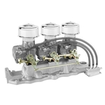 Three Demon 98s on an Edelbrock Intake Linkage Kit
