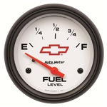 Auto Meter 5814-00406 GM White Air-Core Fuel Level Gauge, 2-5/8 Inch