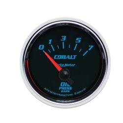 Auto Meter 6127-M Cobalt Air-Core Oil Pressure Gauge, 2-1/16 Inch