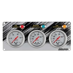Auto Meter 7066 Auto Gage Mechanical 3 Gauge Race Panel