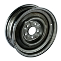 O/E Style Hot Rod Steel Wheel, Raw Finish, 15 x 5, 5 on 4-1/2 Inch