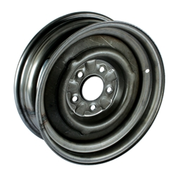 O/E Style Hot Rod Steel Wheel, Raw Finish, 15 x 5, 5 on 4-1/2 Inch ...