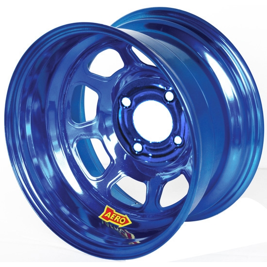 Aero 31-984040BLU 31 Series 13x8 Wheel, Spun, 4 on 4 BP, 4 Inch BS