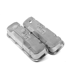 Holley 241-84 BB Chevy M/T Valve Covers, Polished, Cast Aluminum
