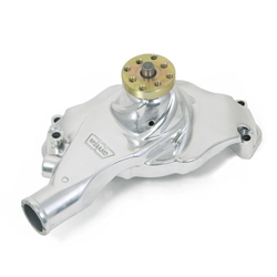 Weiand 9212P Action +Plus Aluminum BBC Short Water Pump,  Polished