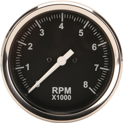 Garage Sale - Speedway 3-3/8 Inch Mechanical Tachometer, Black