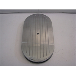 Garage Sale - Ball Milled Billet Style Oval Air Cleaner, 15 Inch