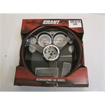 Garage Sale - Grant Classic Banjo Steering Wheel, Mahogany Rim, 14-3/4 Inch