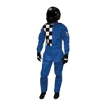 Garage Sale - Finishline 2-Layer SFI-5 Fire Retardant Racing Suit, Blue XL