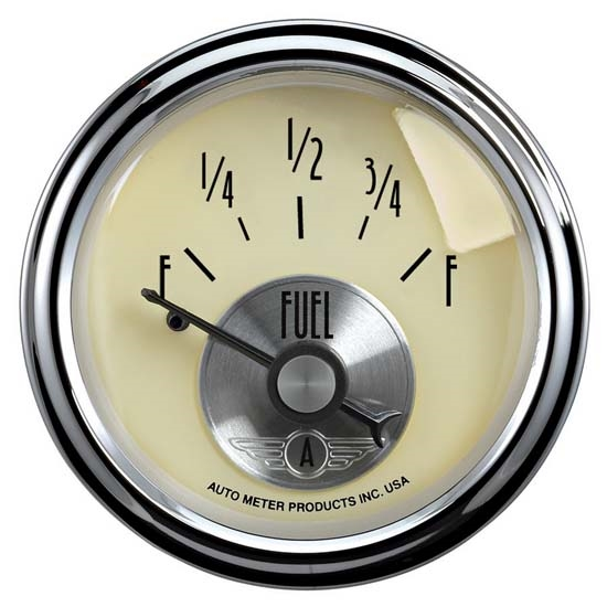 Auto Meter 2017 Prestige Antique Ivory Air-Core Fuel Level Gauge