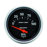 Auto Meter 3522 Sport-Comp Air-Core Oil Pressure Gauge, 100 PSI