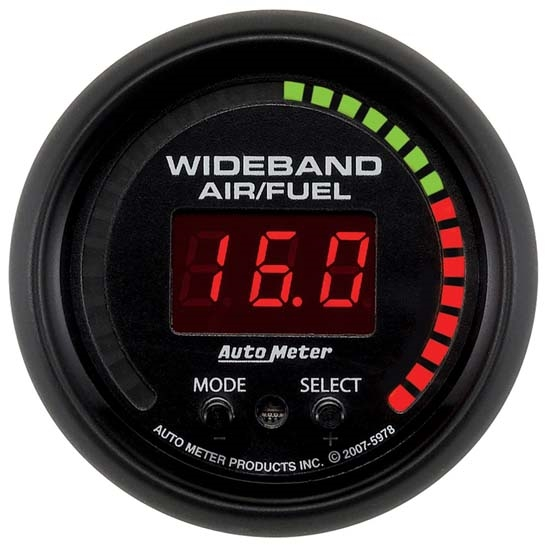 Auto Meter 5978 ES Digital Wideband Air/Fuel Ratio (AFR) Gauge