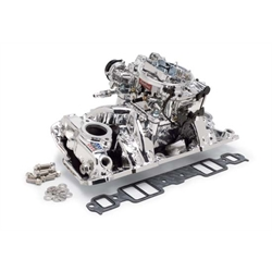 Edelbrock 20244 RPM Air-Gap Single-Quad Intake Manifold/Carburetor Kit