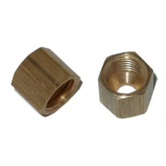 Nos compression fitting inch tube cap w ferule