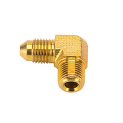 Wilwood 220-13125 Fitting 90 Deg AN# 3 to 1/8-27 NPT