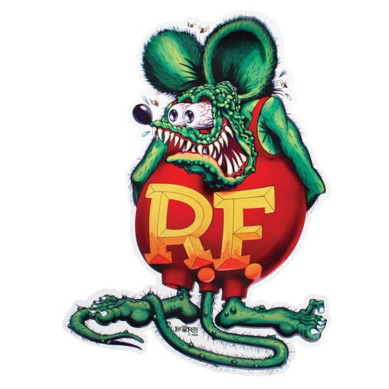 Fink Garage: Rat Fink Embossed Aluminum Sign