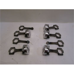 Garage Sale - Small Block Chevy Pistons And Rods, 350 Flat Top- 2 Valve Relief, 6.0 Inch Rods