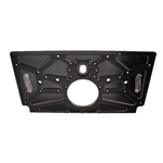 Speedway Small Block Chevy Aluminum Rear Motor Plate, Black