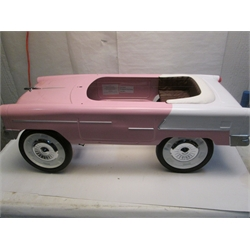 Garage Sale - 1955 Pink & White Chevy Pedal Car