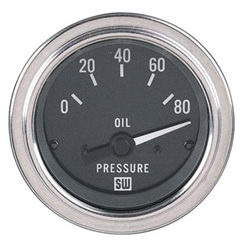 Garage Sale - Stewart Warner 82304 Deluxe 2-1/16 In Elec Oil Pressure Gauge 0-80 PSI ...