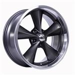 Boyds Wheels BC1-776140G Junkyard Dog 17x7 Gray Wheel, 5 on 4-3/4