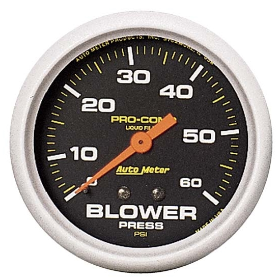 Auto Meter 5402 Pro-Comp Mechanical Blower Pressure Gauge, 2-5/8 Inch
