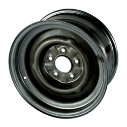 O/E Style Hot Rod Steel 15 Inch Wheel, Raw Finish, 15 x 7, 5 on 4-3/4