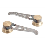 Lokar IDH-2028 Lakester Steel Door Handles, GM/Ford 1949-Up, Pair, Raw