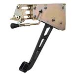 Lokar XEFB-9003 Midnight Series Foot Brake w/Windowed Arm, Rubber