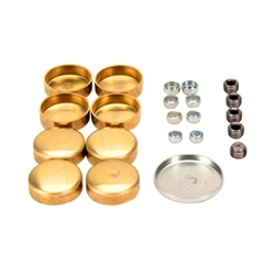 Pioneer Automotive PE-100-BR Chevy 283-350 Brass Freeze Plug Set