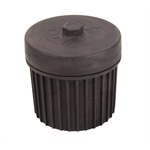 System 1 Filtration Oil Filter 4 Inch Black Anodized Universal Metric Threads