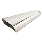 Stainless Steel Oval Exhaust Tip, 2-1/2 Inch Inlet