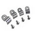 Stainless Steel Single Brake Line Tube Clamps, Bag/12