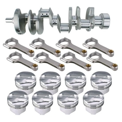 Premium Chevy 350 Rotating Assembly, 1-Piece Main, .200 Dome, 5.7 Rod