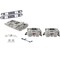 Edelbrock Small Block Chevy Dual Quad Intake/Carburetor Kit