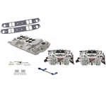 Edelbrock Small Block Chevy Dual Quad Intake/Carburetor Kit, Endurashine AVS