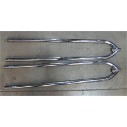 "Garage Sale - 27"" Front Axle Hairpin Radius Rods, Chrome"