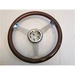 Garage Sale - Grant Classic Banjo Steering Wheel, Magogany Rim, 14-3/4 Inch
